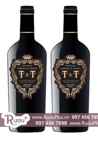 Rượu vang Ý T&T Primitivo del Salento