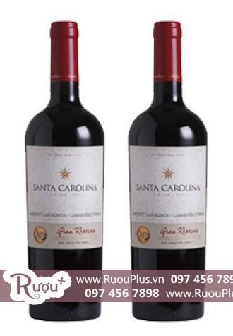 Rượu vang Chile Santa Carolina Gran Reserva Cabernet Sauvignon Carmenere Syrah