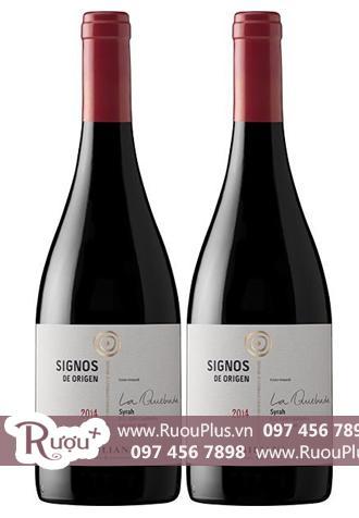 Rượu vang Chile Signos de Origen Syrah