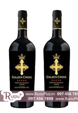 Rượu vang Ý Golden Cross Primitivo Salento Rosso