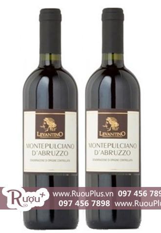 Rượu vang Ý Levantino Montepulciano D'Abruzzo