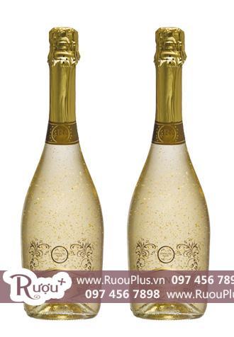Rượu vang Blonde Vảy vàng Sparkling Gold Flakes 22K Cao cấp