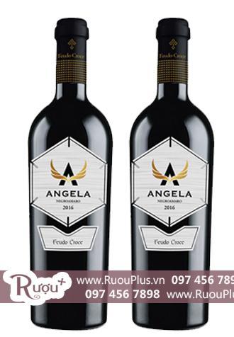 Rượu vang Ý Angela Negroamaro Feudo Croee Tinazzi