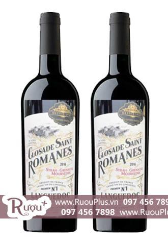 Rượu vang Closade Saint Romanes Syrah Grenache Mourvedre